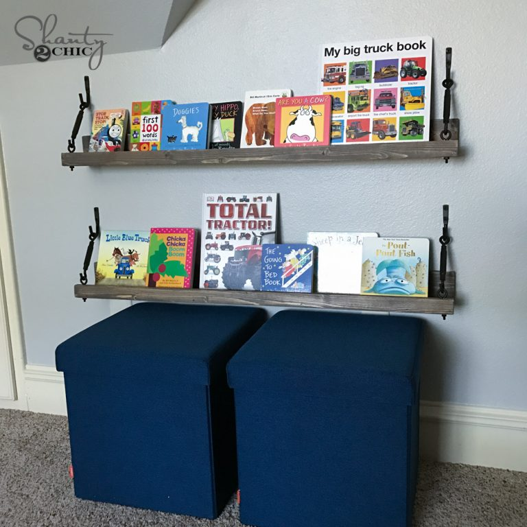 DIY $10 Turnbuckle Shelf