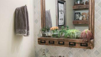 DIY Bathroom Mirror Storage Case - Shanty 2 Chic