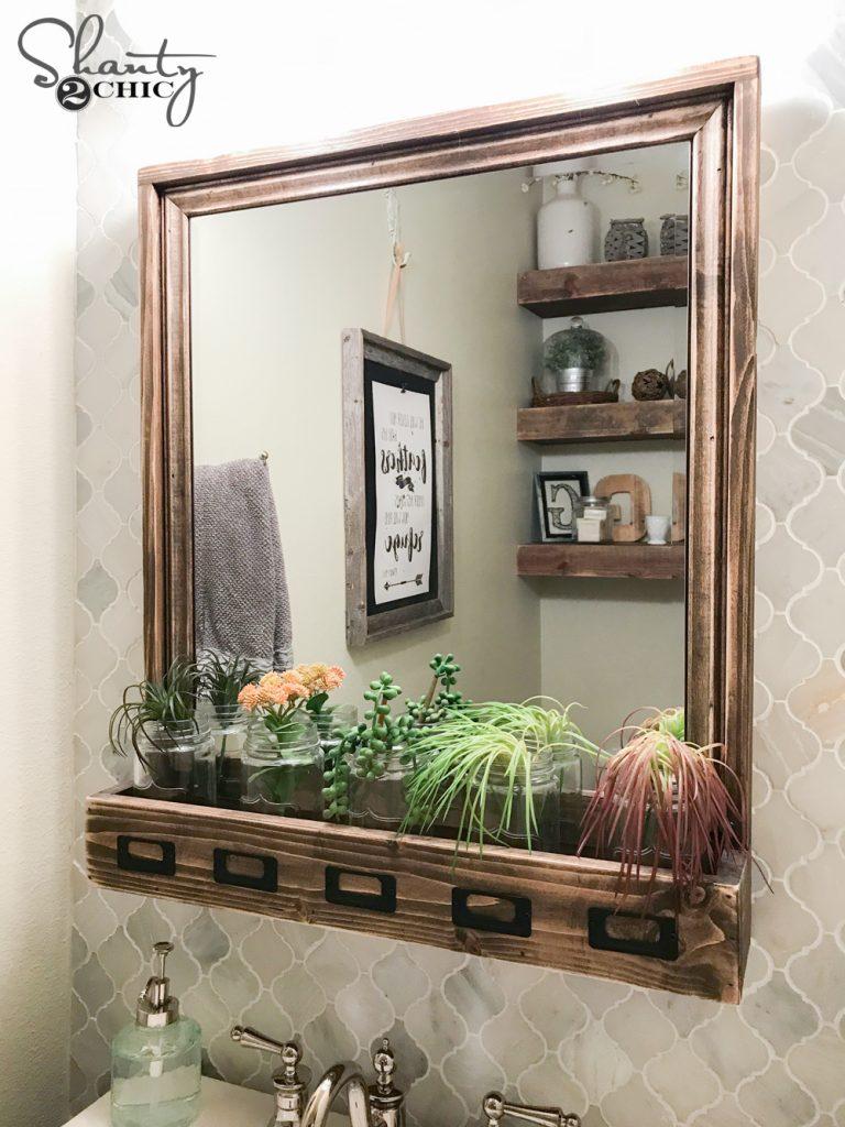 foto de DIY Farmhouse Storage Mirror and YouTube Video Tutorial - Shanty 2 ...