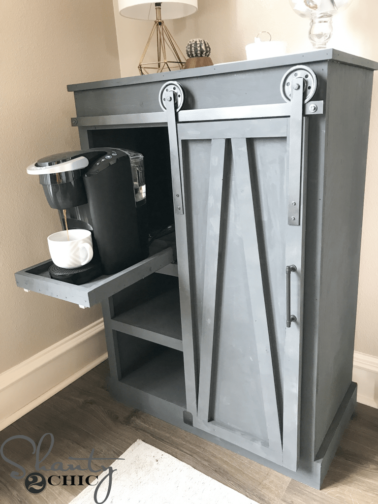 Magnificent Diy Barn Door Coffee Cabinet A Great Solution For Limited Home Interior And Landscaping Spoatsignezvosmurscom
