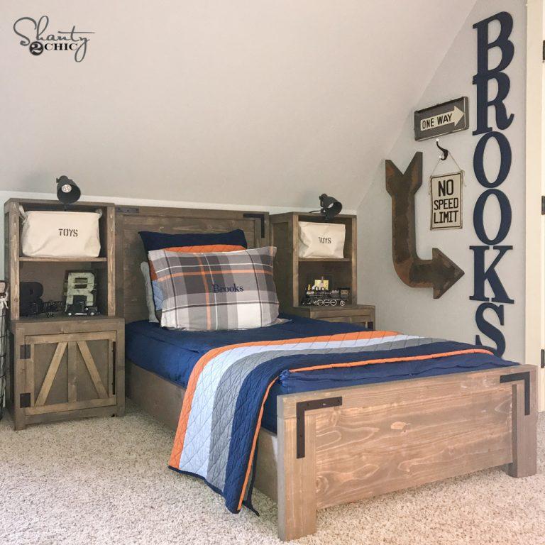 DIY Modern Farmhouse Platform Bed - Shanty 2 Chic