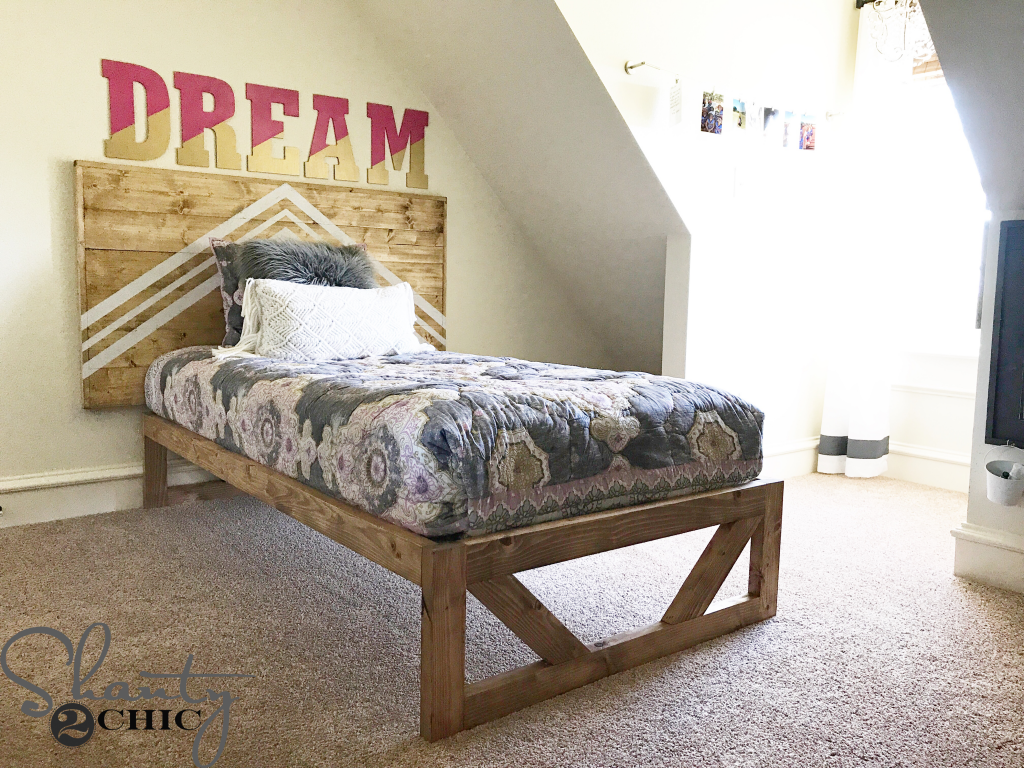 Diy Modern Platform Bed Free Plans How To Video Shanty 2 Chic