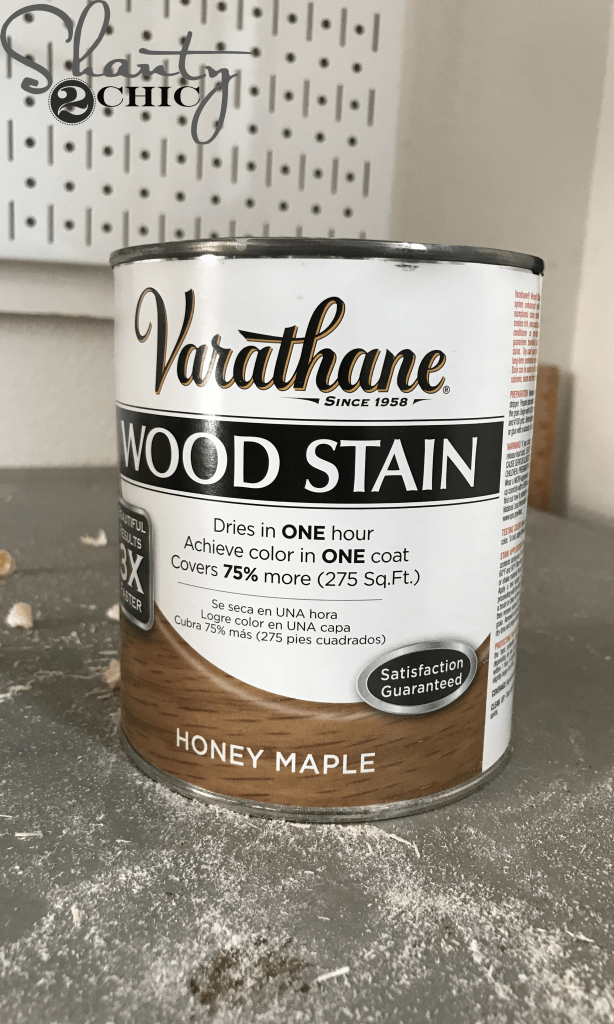 Honey Maple Wood Stain for DIY Planked Headboard