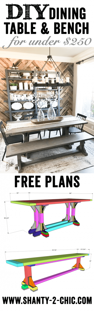 DIY Industrial Corbel Dining Bench
