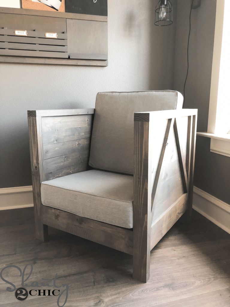 DIY Farmhouse Club Chair Free Plans Amp How To Video