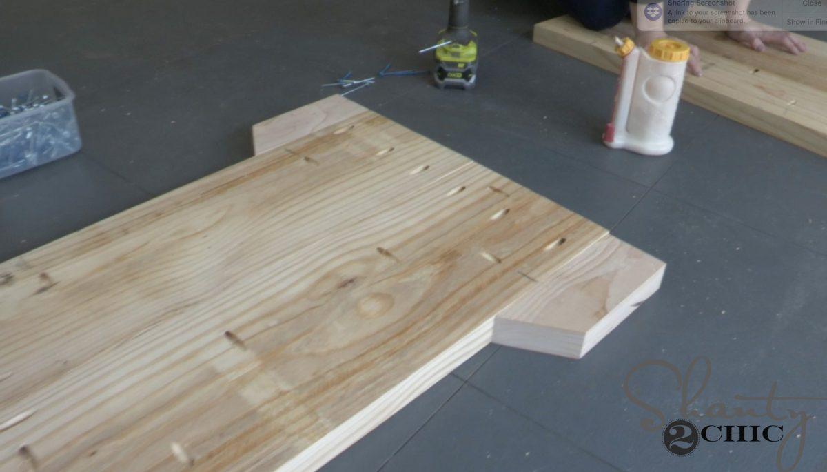 leg base - diy pew bench farmhouse table