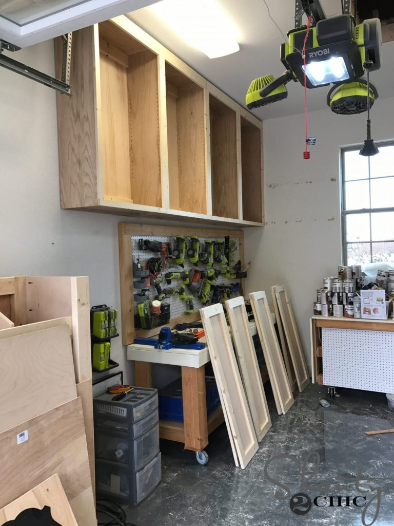 Diy Cabinets For A Garage Workshop Or Craft Room Shanty 2 Chic