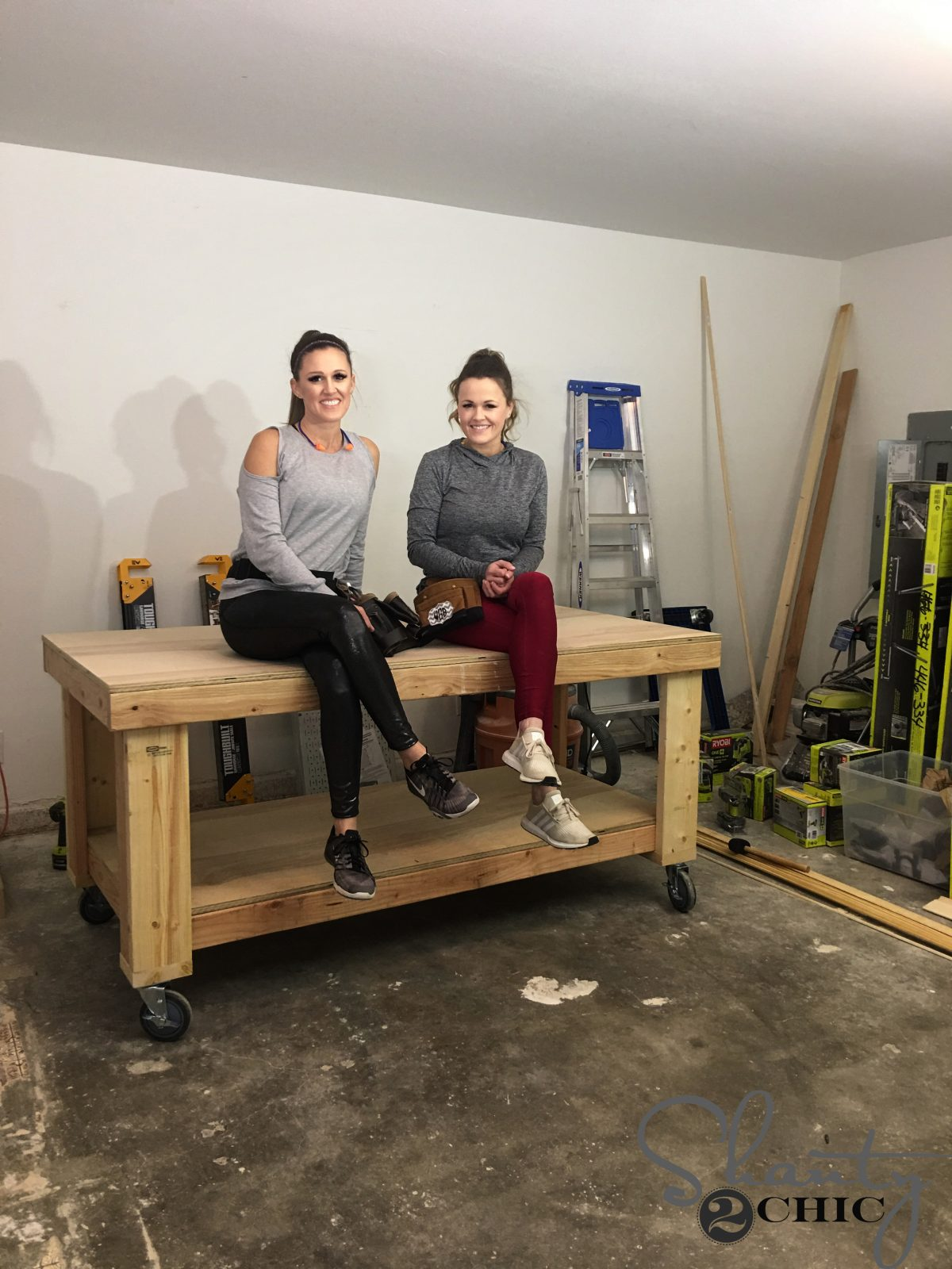 Picture of: Diy Workbench Shanty 2 Chic