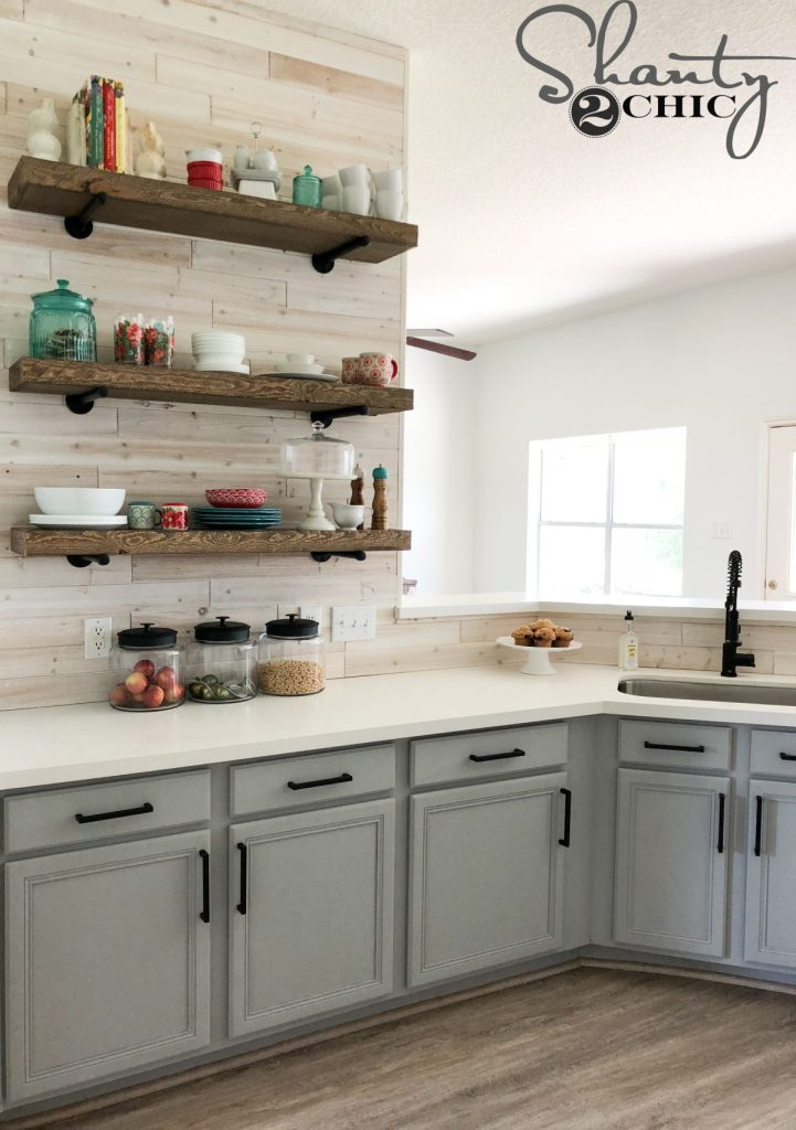 DIY Driftwood Backsplash