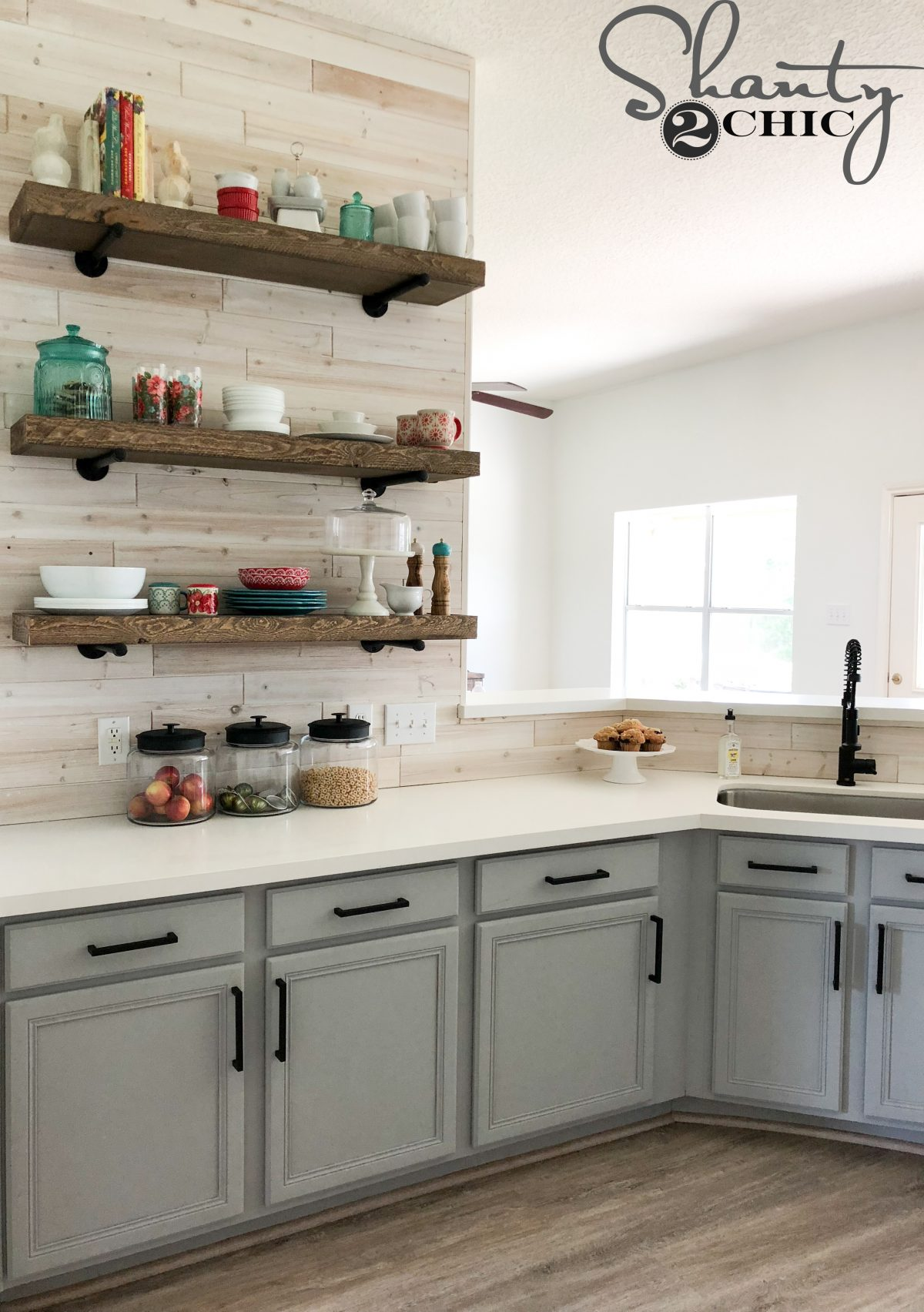 How To Easily Paint Kitchen Cabinet! - Shanty 2 Chic