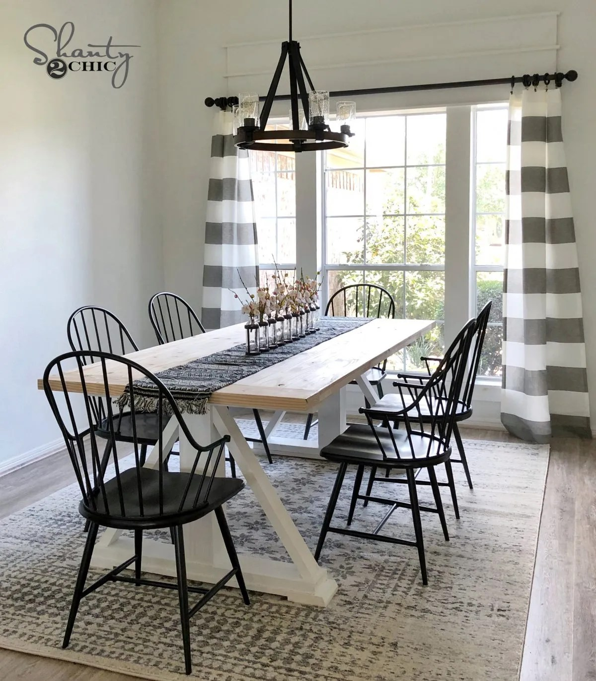 modern chic dining room | DIY Modern Farmhouse Dining Table - The Leasha Table ...