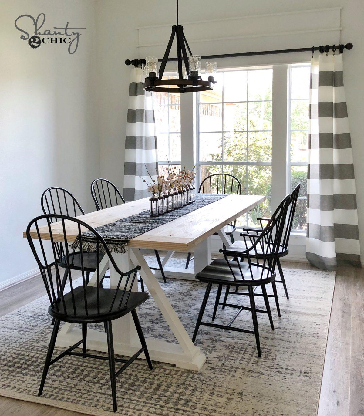 DIY Modern Farmhouse Dining Table