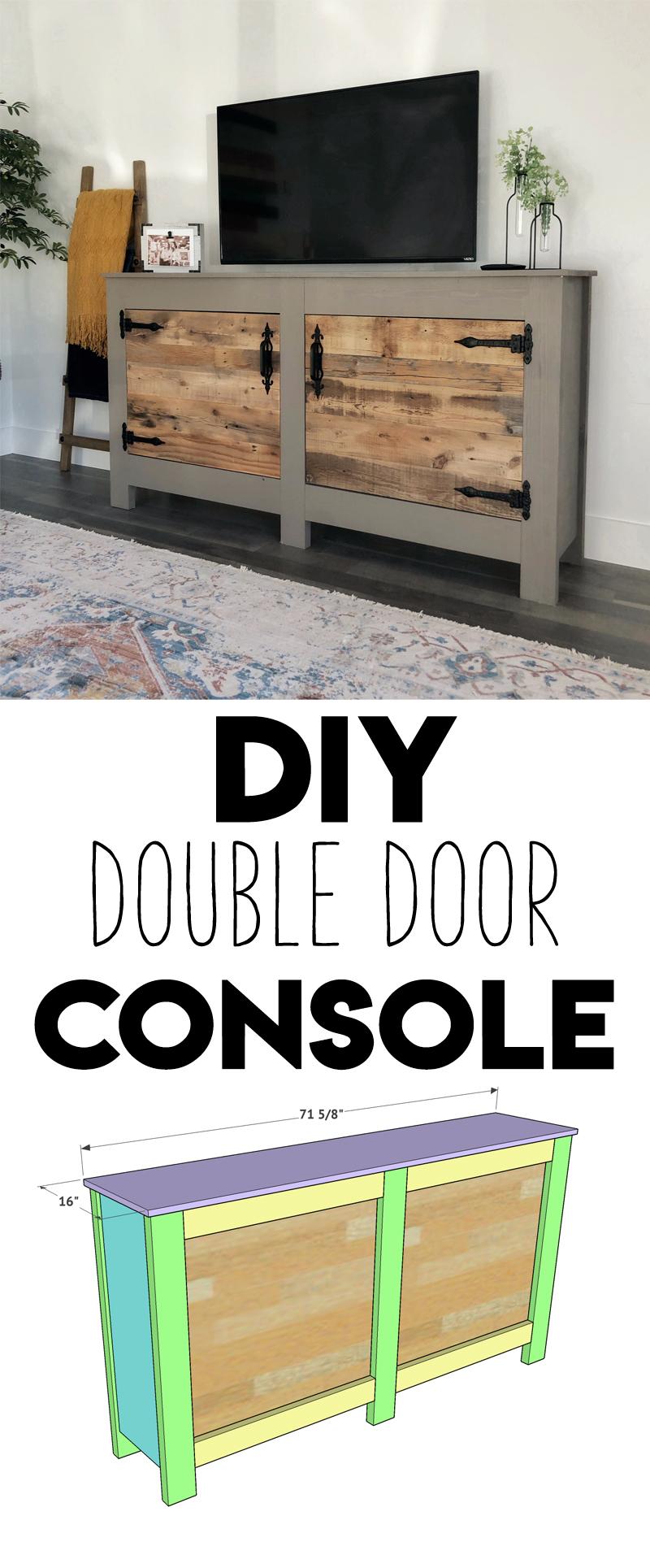 DIY Wide Double Door Console