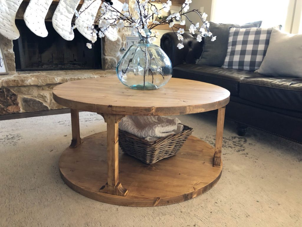 DIY Round Coffee Table