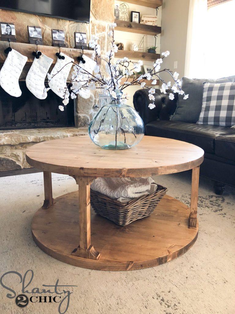 DIY Round Coffee Table
