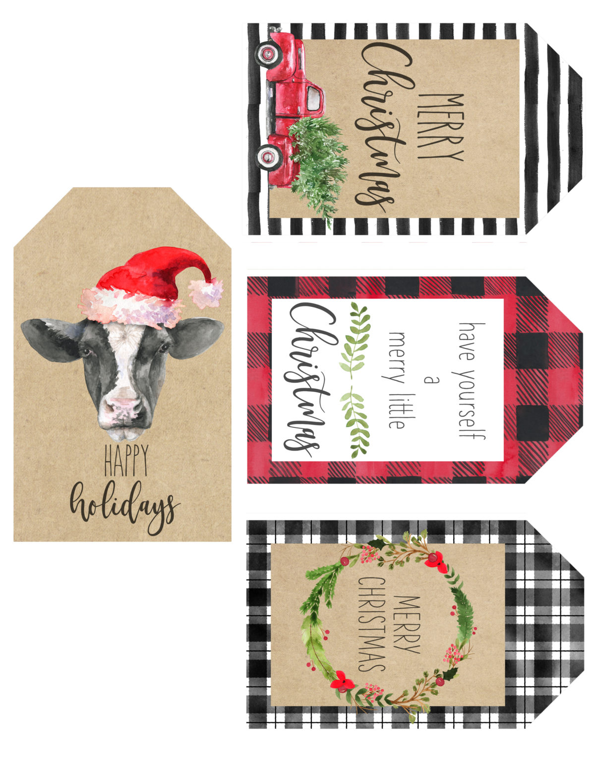 Free Printable Christmas Tags.Free Printable Christmas Gift Tags Shanty 2 Chic