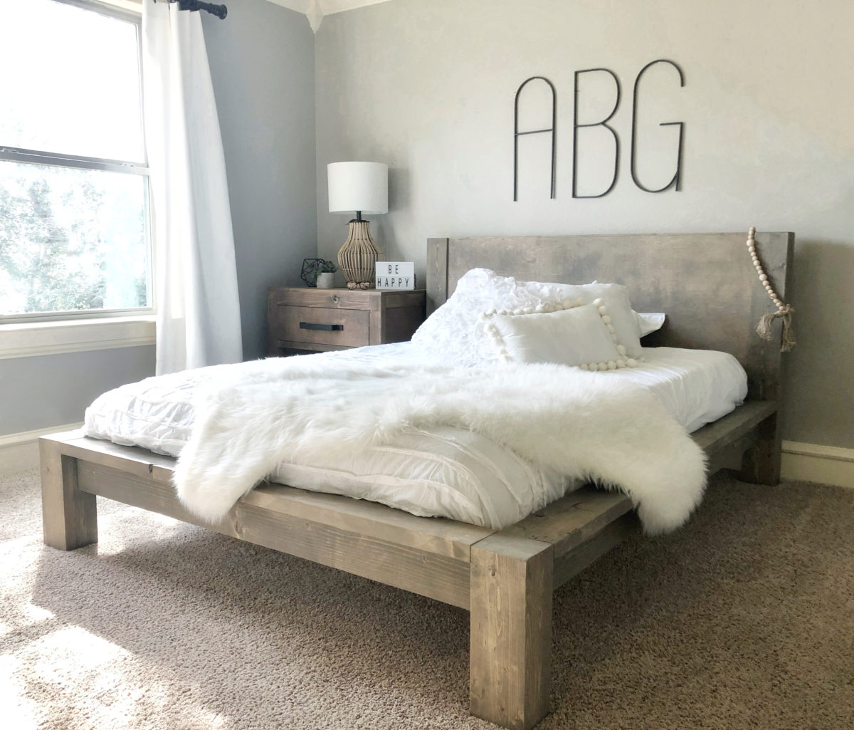 Image of: Diy Rustic Modern Queen Bed Shanty 2 Chic