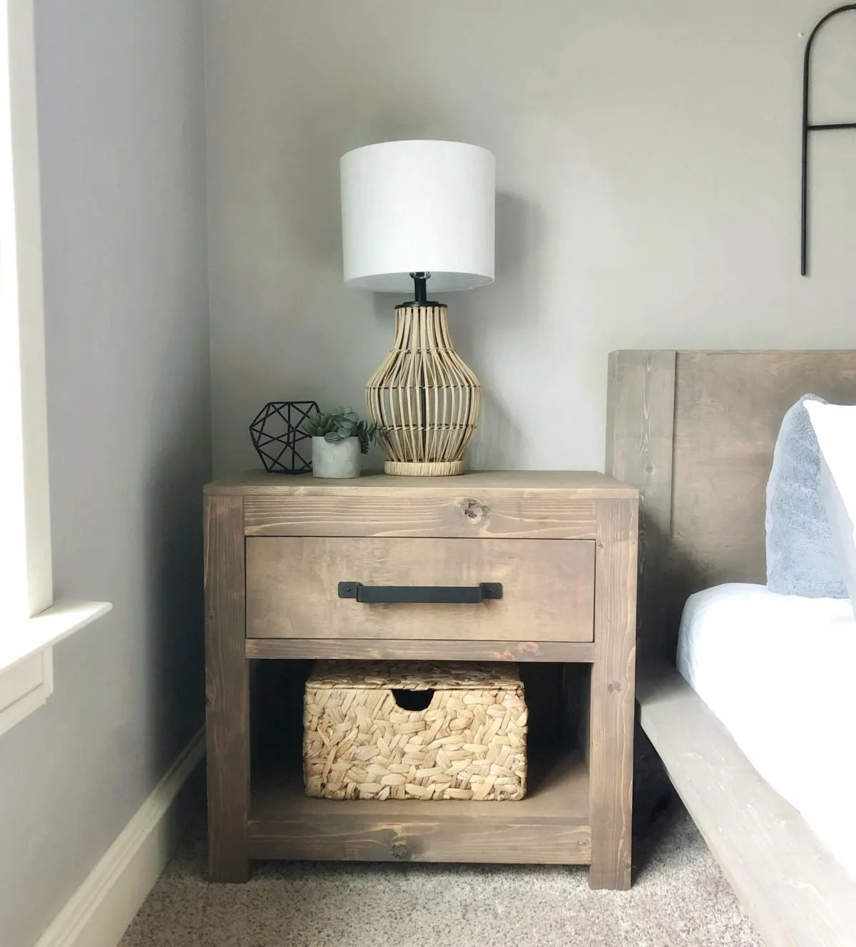 DIY Modern Farmhouse Nightstand