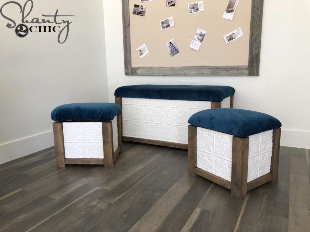 DIY Trunk with Nesting Ottomans