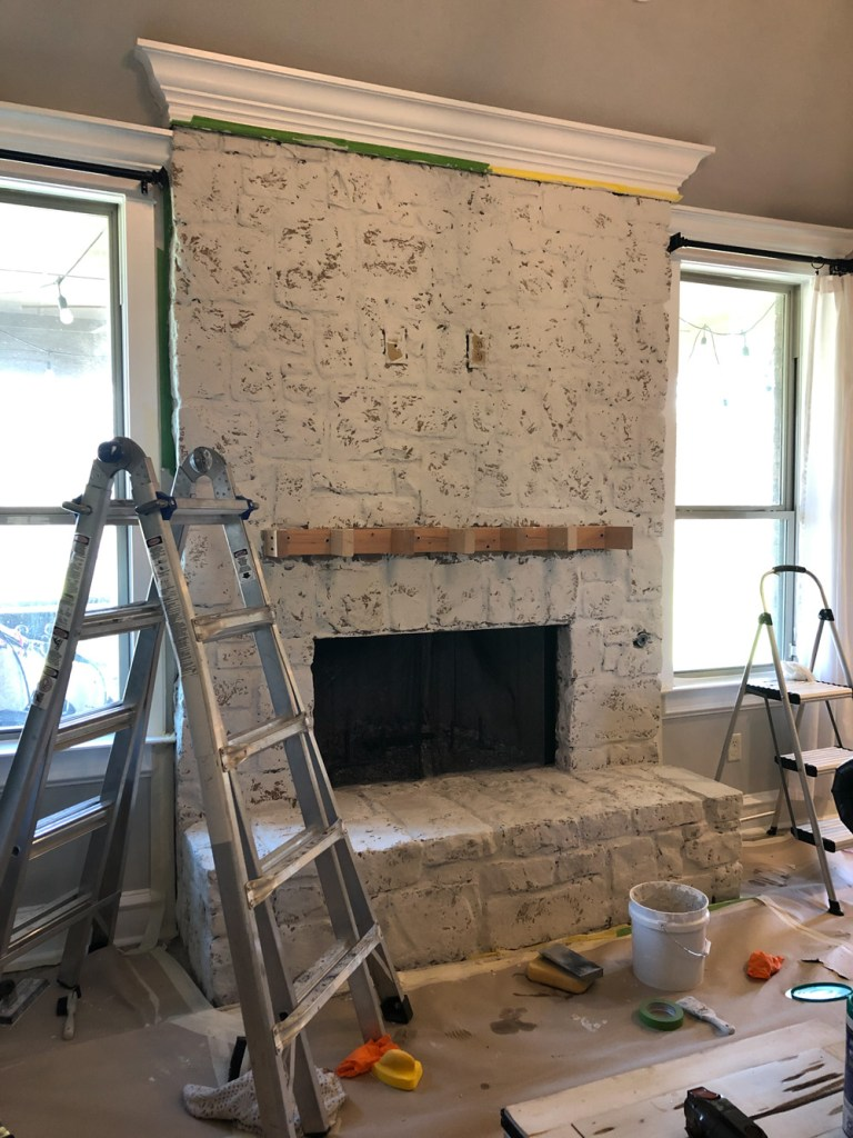 DIY $65 Fireplace Transformation
