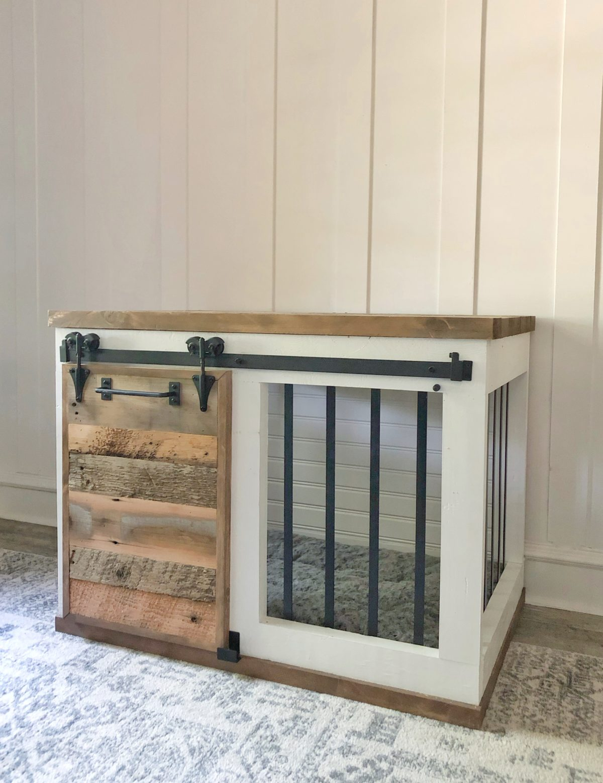 Farmhouse Barn Door Dog Crate Shanty 2 Chic