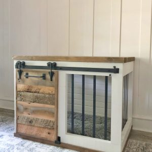 Farmhouse Barn Door Dog Crate