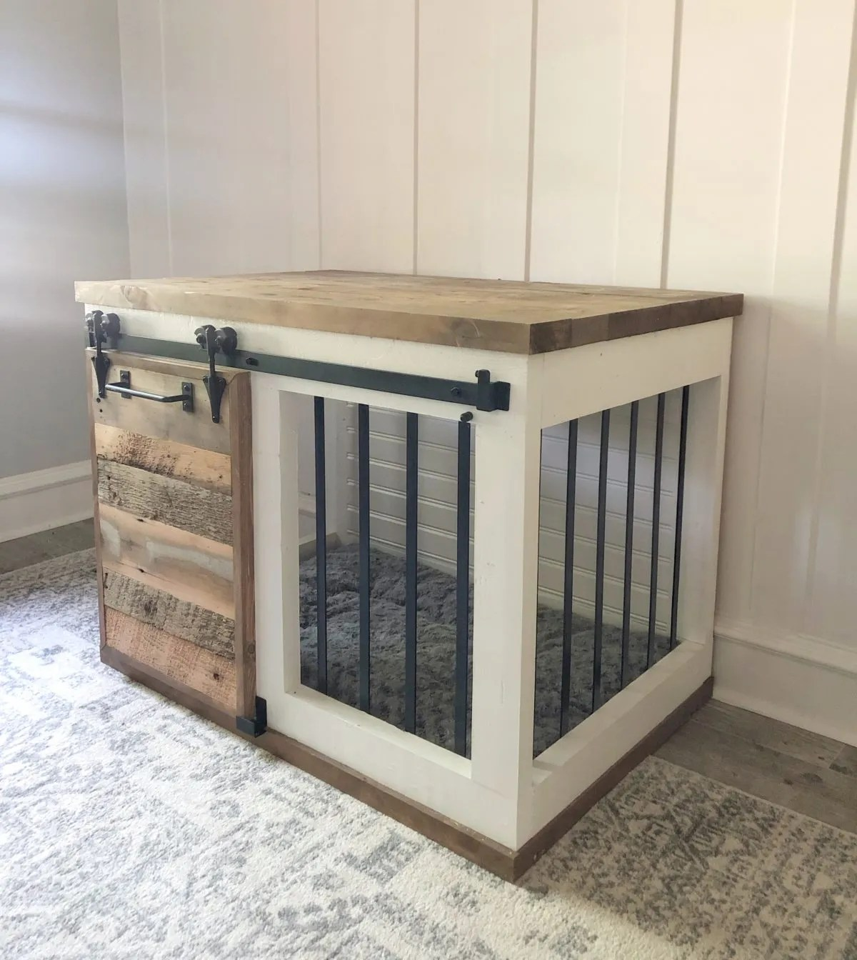 TV Stand Crate Furniture Custom Metal and Wood Dog Crate