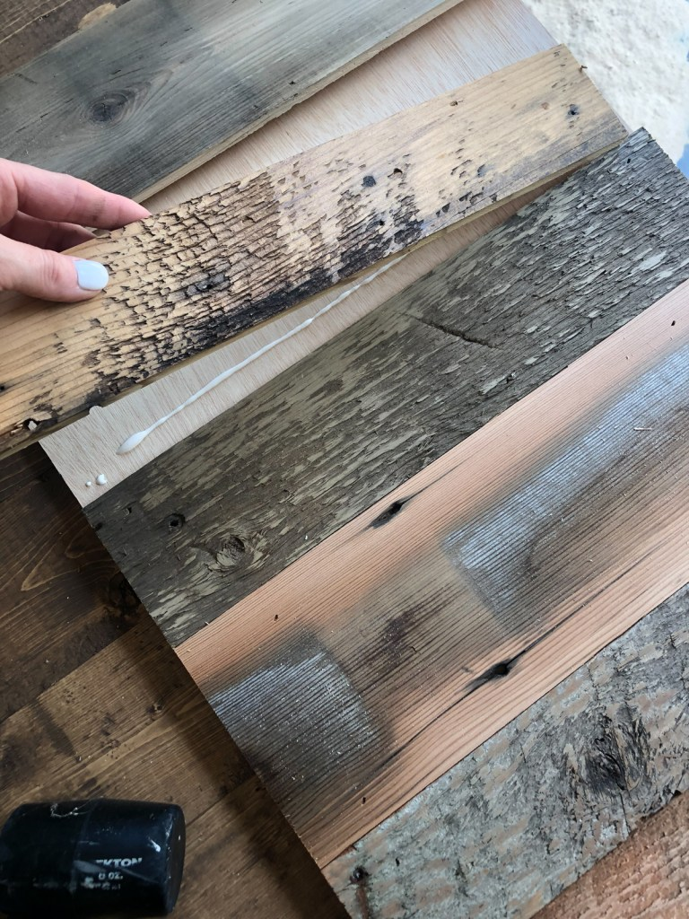 This image has an empty alt attribute; its file name is planks-for-door-768x1024.jpg