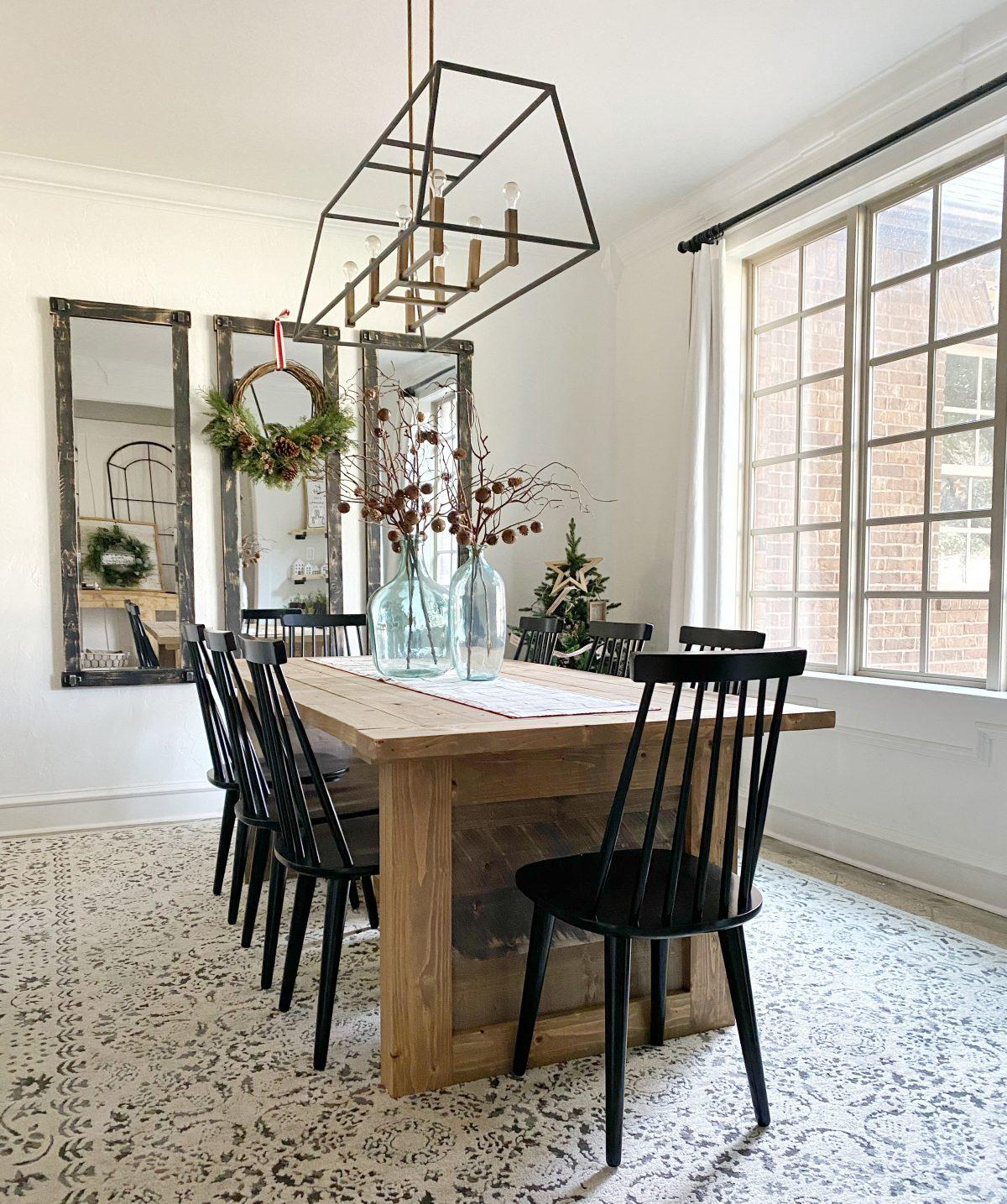 DIY Farmhouse Panel Dining Table