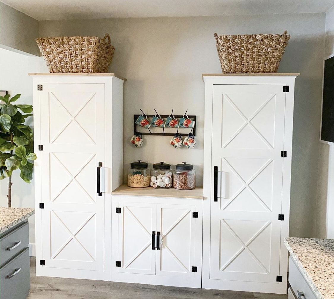 DIY Table Height Pantry Cabinet