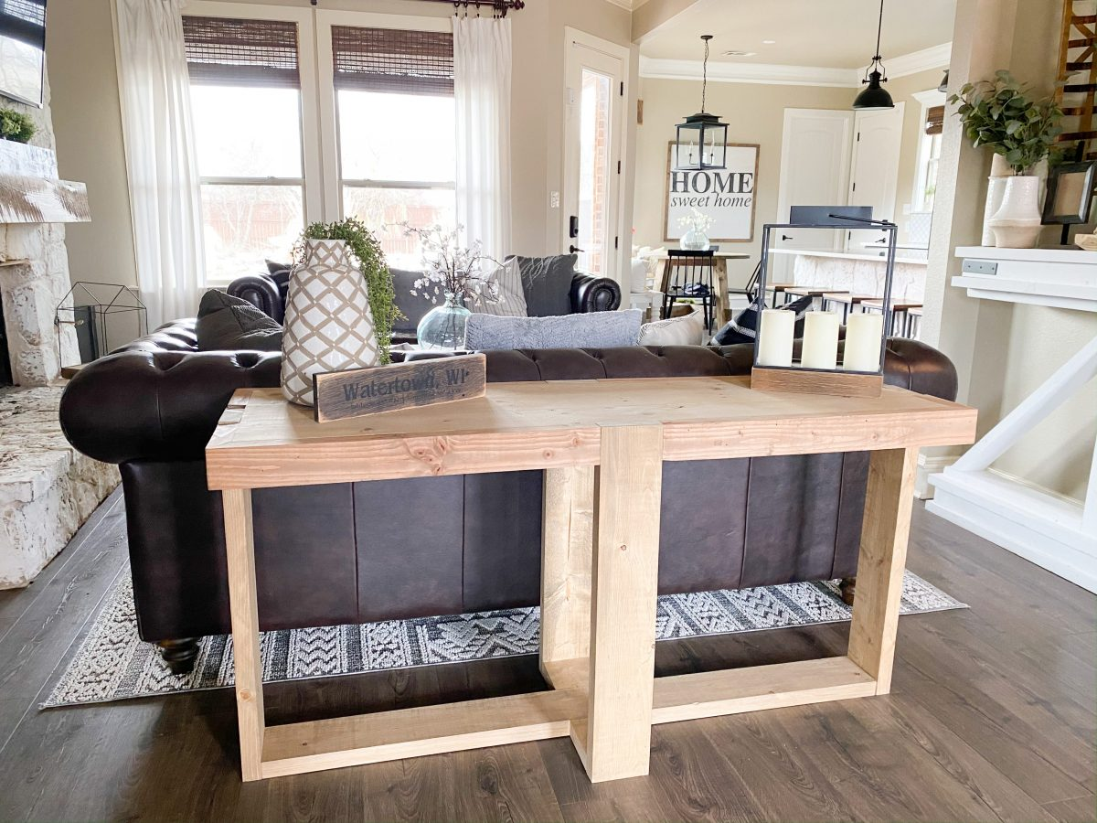 DIY Modern Farmhouse Console Table