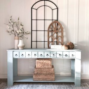 DIY Console Table with Faux Drawers by Shanty2Chic