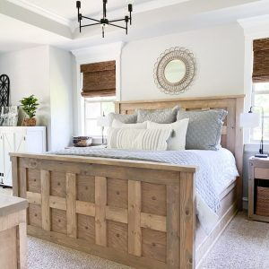 DIY King Panel Bed built by Shanty2Chic