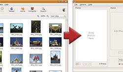 Adicionar um álbum de fotos de imagens para a colagem de fotos