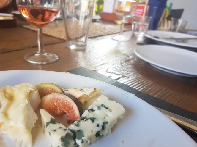 Cheese and figs on a plate
