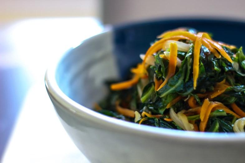Carrots and Collard Greens