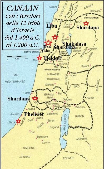 mappa di israel