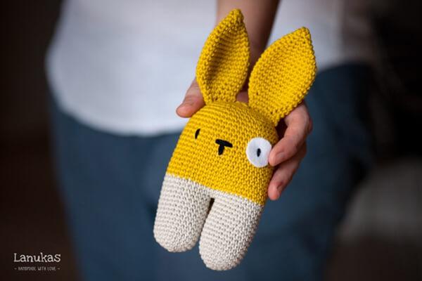 Rattle Bunny Two-legged