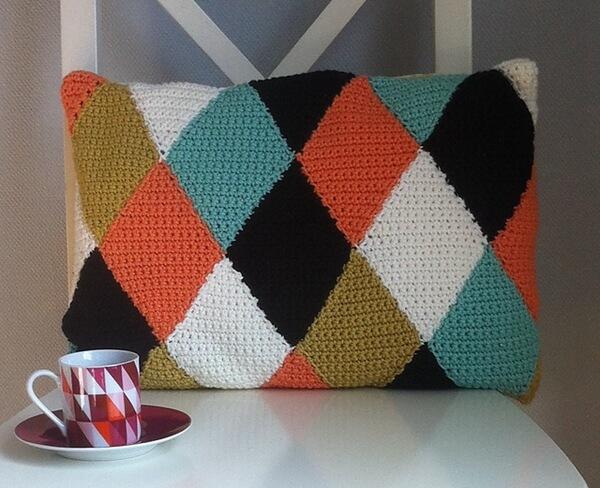 FIKA harlequin cushion