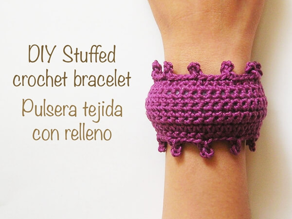 Stuffed Crochet Bracelet