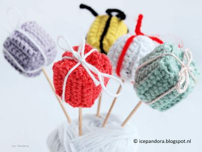 DIY crochet giftbox finished set