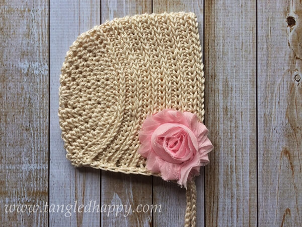Ribbed Baby Bonnet 0-3 Months