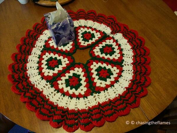 Christmas Crochet Tree Skirt