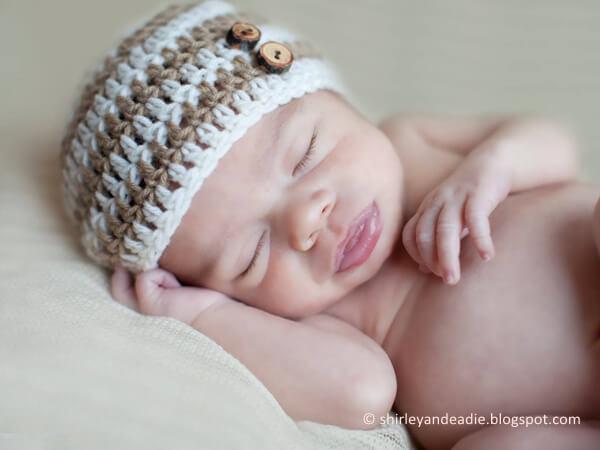 Striped Newborn Hat Pattern