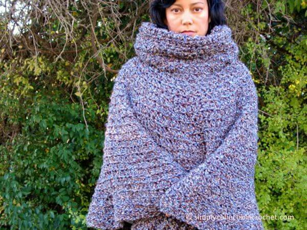 Cowl Hooded Poncho
