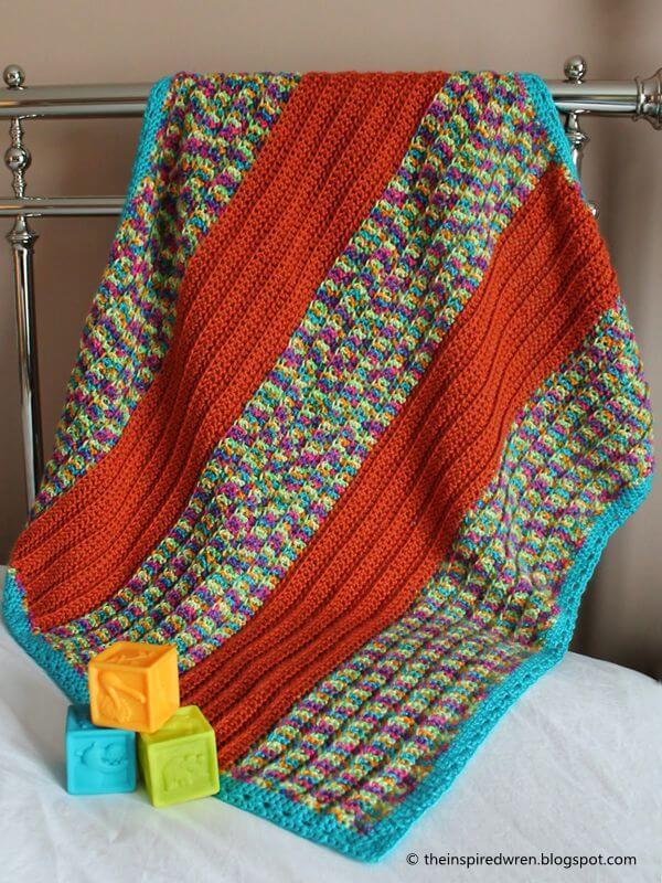 Broad-Stripe Baby Blanket