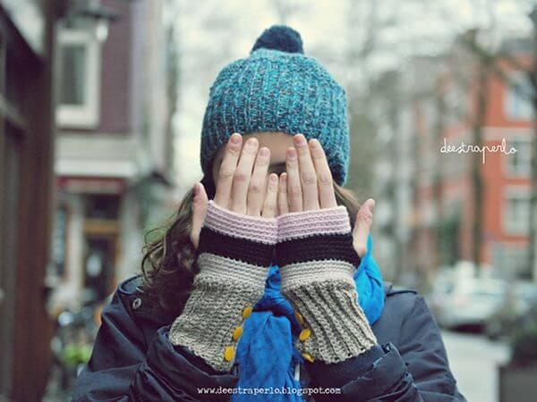 Back Loop fingerless gloves
