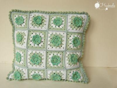 Granny Square Flower pillow