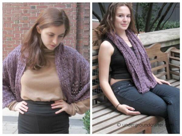 broomstick lace shawl
