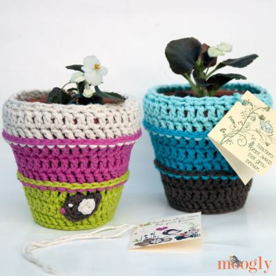 Planting Seeds Flower Pot Cozy